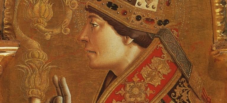 crivelli, particolare San Ludovico da Tolosa