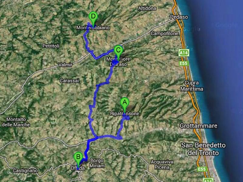 itinerario scrigni e sapori di collina